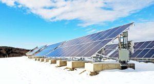 painéis solares inverno
